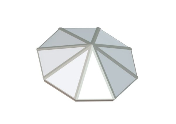 Octagonal Pyramid - Polycarbonate Colonial White
