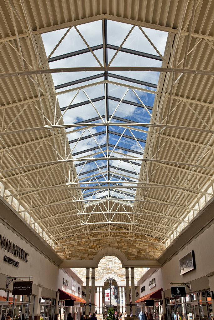 Paragon Outlet Mall Structural Ridges