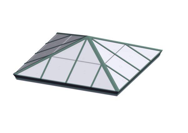 Square Pyramid - Polycarbonate Aged Copper