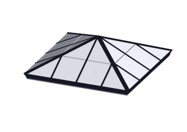 Square Pyramid - Polycarbonate Black