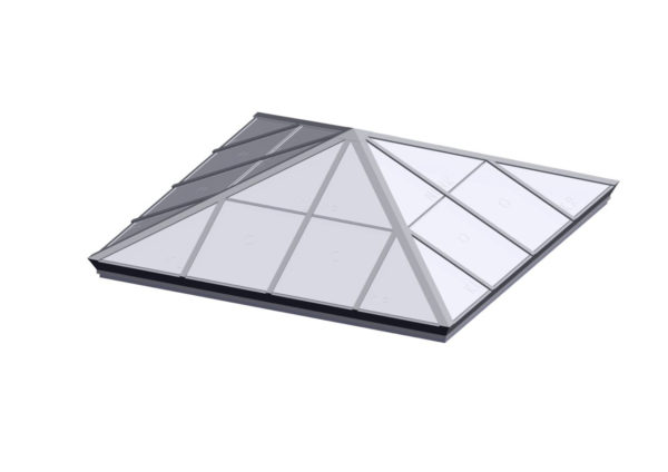 Square Pyramid - Polycarbonate Bone White