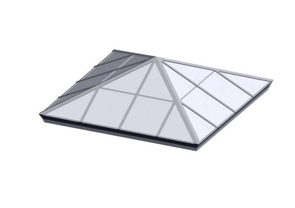 Square Pyramid - Polycarbonate Bone White