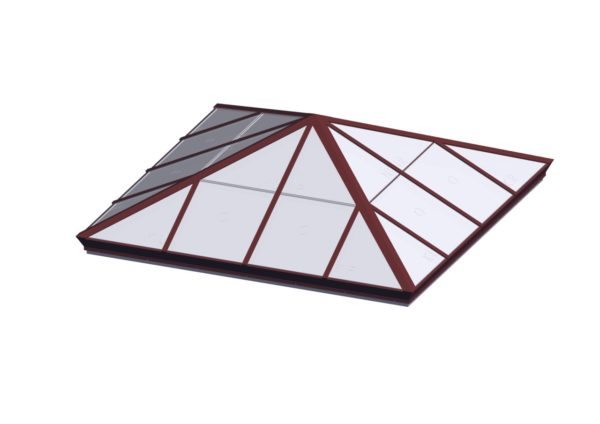 Square Pyramid - Polycarbonate Brick Red