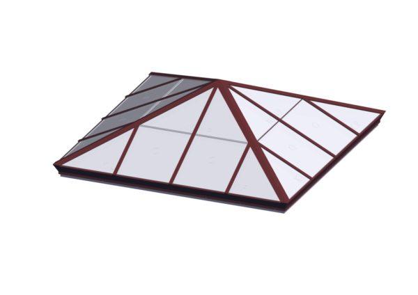 Square Pyramid - Polycarbonate Brick Red