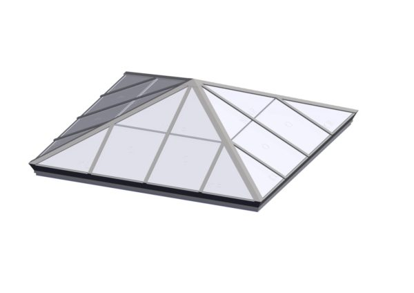 Square Pyramid - Polycarbonate Colonial White