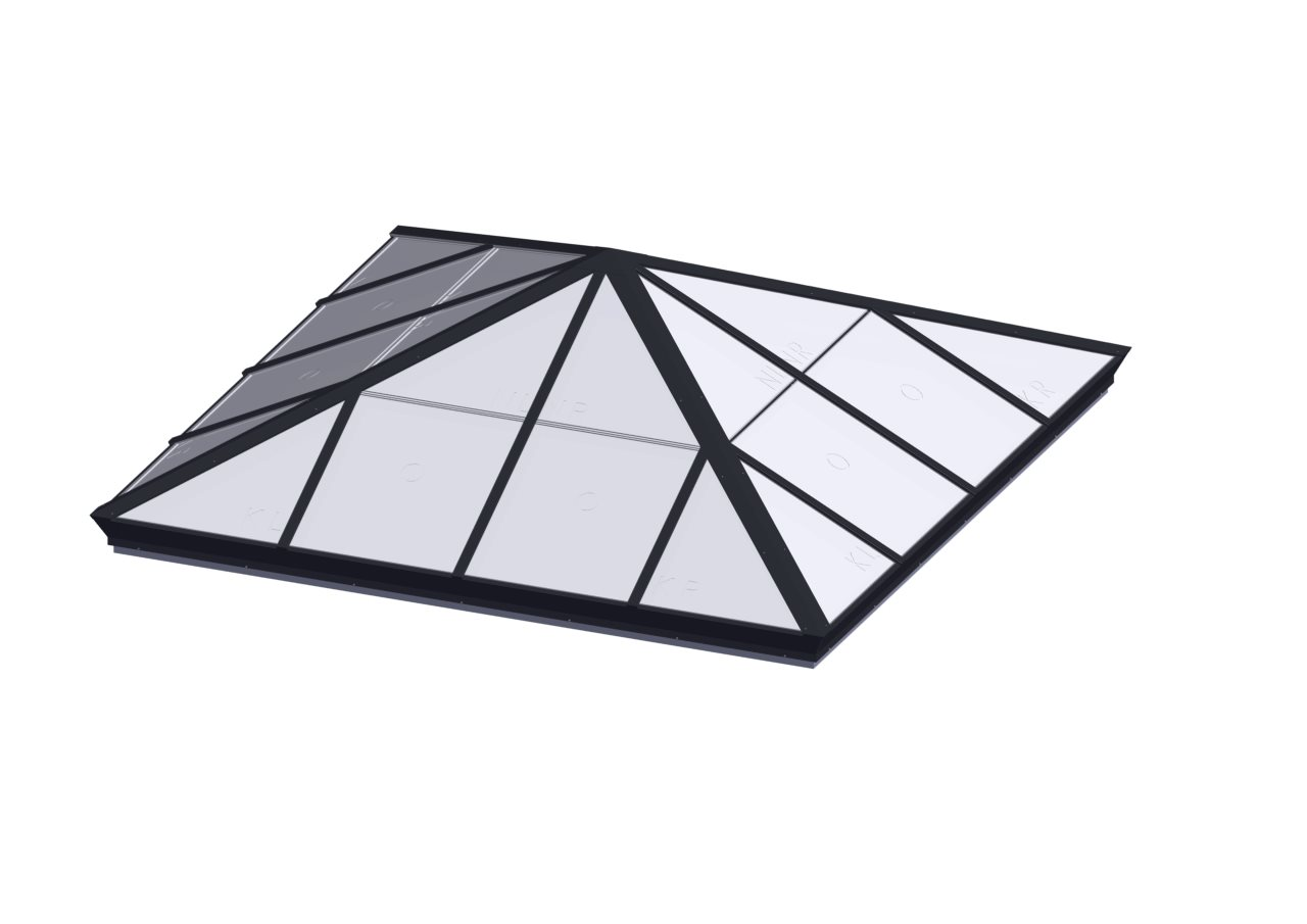Square Pyramid Skylight System Translucent Skylights
