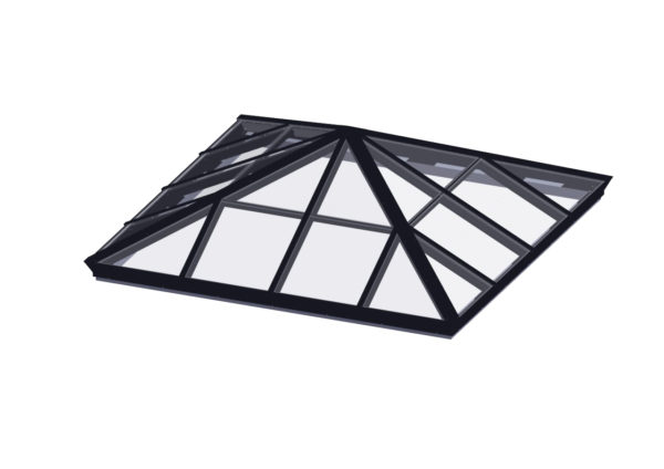 Glass Glazed Pyramid Skylight - Flat Roof Glass Skylights
