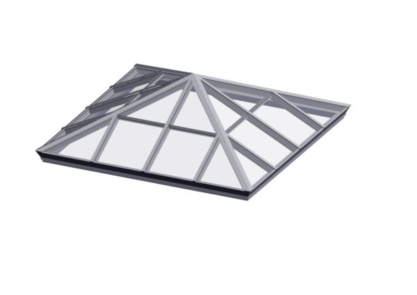 glass square pyramid bone white option