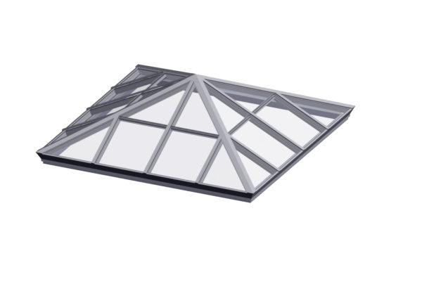 glass square pyramid bone white option