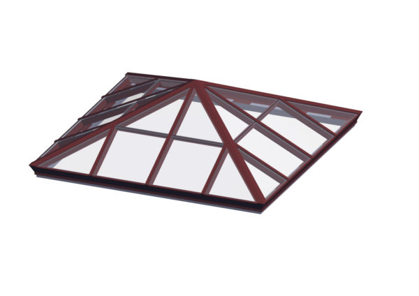 glass square pyramid brick red option