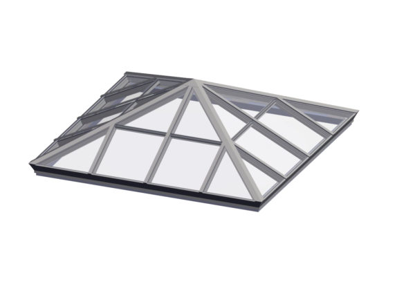 glass square pyramid colonial white color option