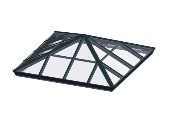 glass square pyramid hartford green color option