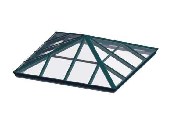 glass square pyramid inerstate green color option