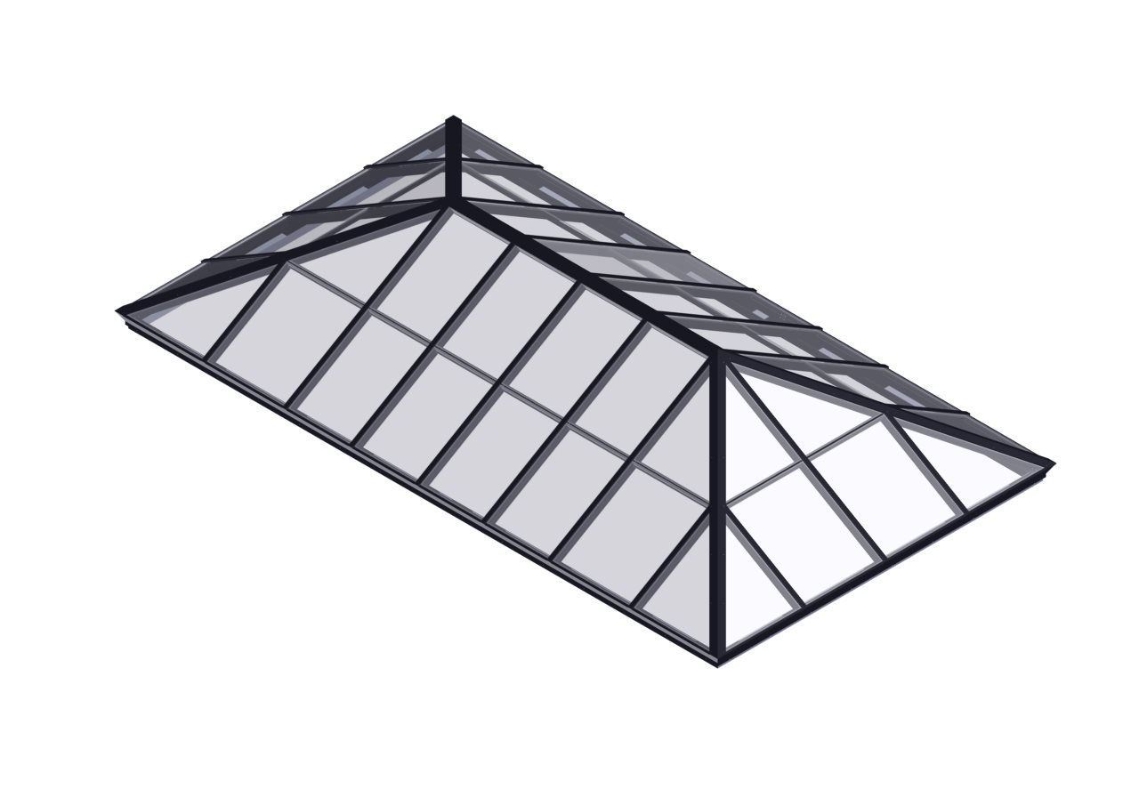 Extended Pyramid Rated Hurricane Resistant Skylights