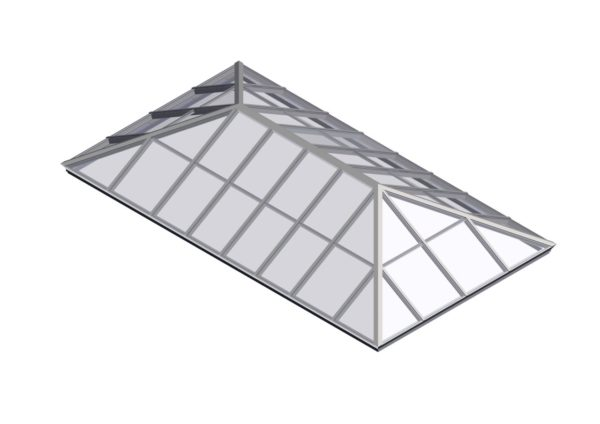 glass extended pyramid colonial white color option