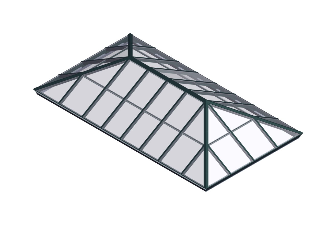 Glass Glazed Extended Pyramid Skylights Natural Light
