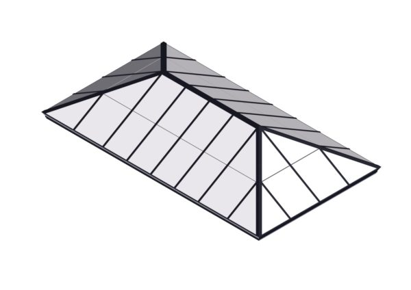 Black Polycarbonate Extended Pyramid