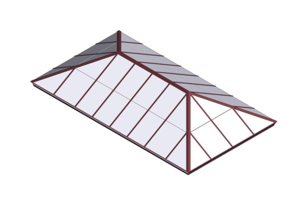 Brick Red Polycarbonate Extended Pyramid