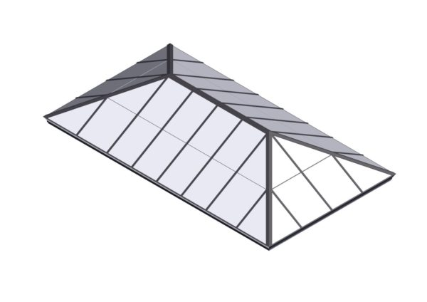 Colonial Gray Polycarbonate Extended Pyramid