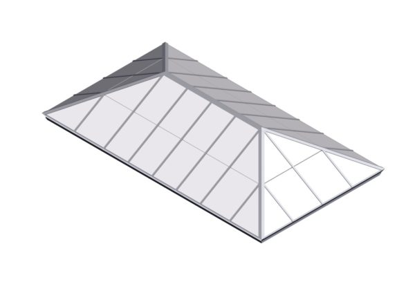 Colonial White Polycarbonate Extended Pyramid
