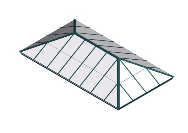 Polycarbonate Extended Pyramid - Interstate Green