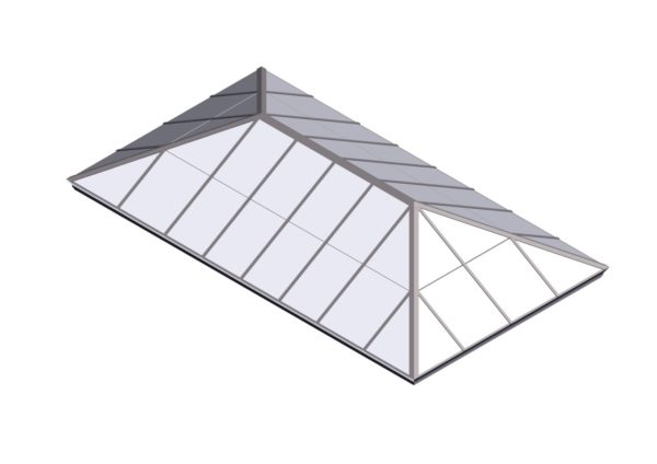 Polycarbonate Extended Pyramid - Sandstone