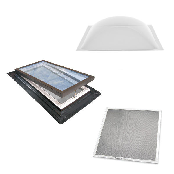 replacement glass domes screens by wasco skylights