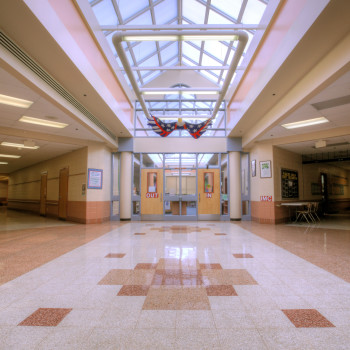 Energy Efficient Skylights IN Judith A. Resnick School Entrance