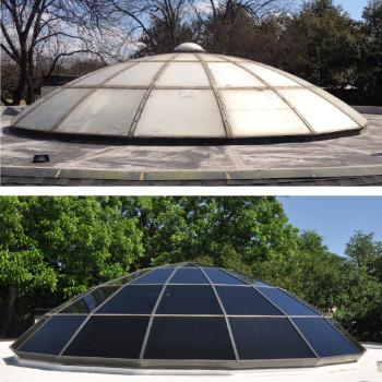 Segmented Polygon Glass Dome