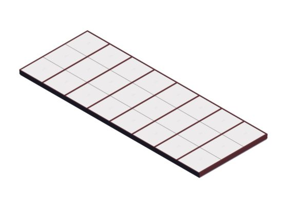 Polycarbonate Single Pitch – Brick Red