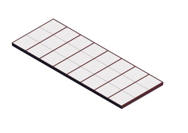 Polycarbonate Single Pitch – Brick Red