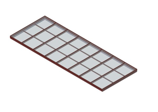 glass single pitch brick red color option