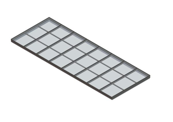 glass single pitch colonial gray color option