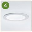 4 - Ceiling trim ring and diffuser