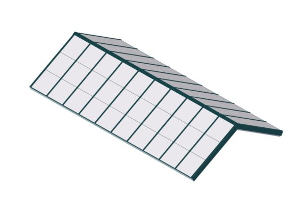 Poly Carbonate Structural Ridge - Interstate Green
