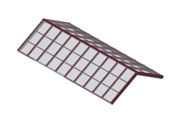 Structural Ridge Glass - Brick Red