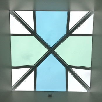 Interior - Pinnacle 350 Pyramids, 10' x 10', with alternating glass tint pattern
